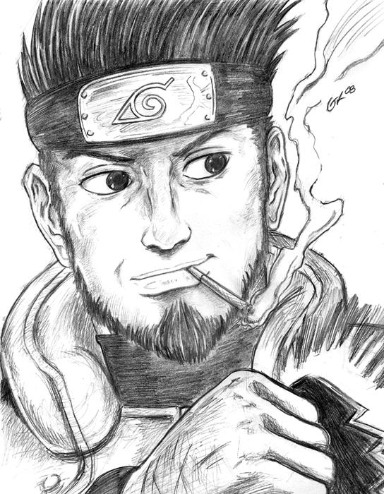 544x700 A Sucky Asuma Drawing By Firu Kun