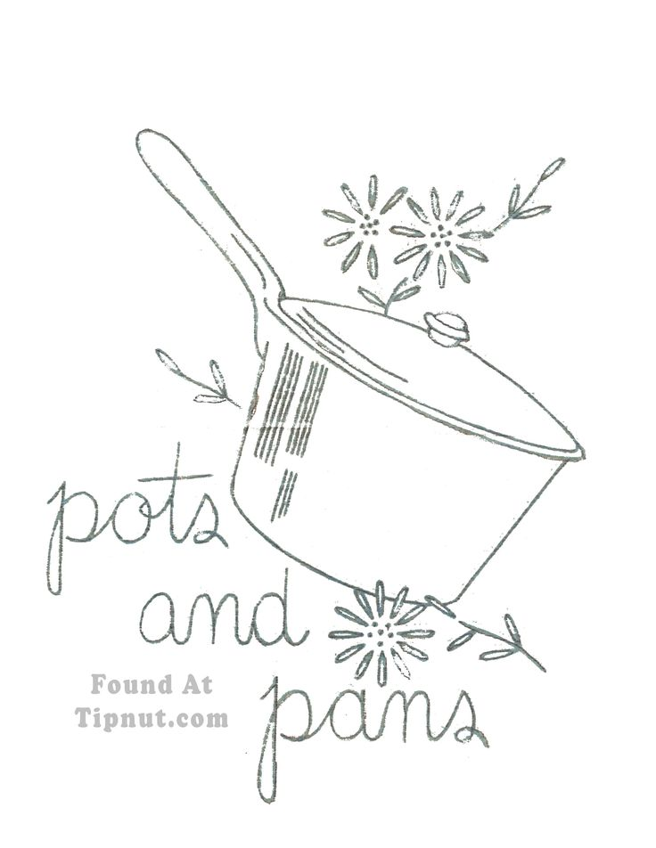 Pots And Pans Drawing