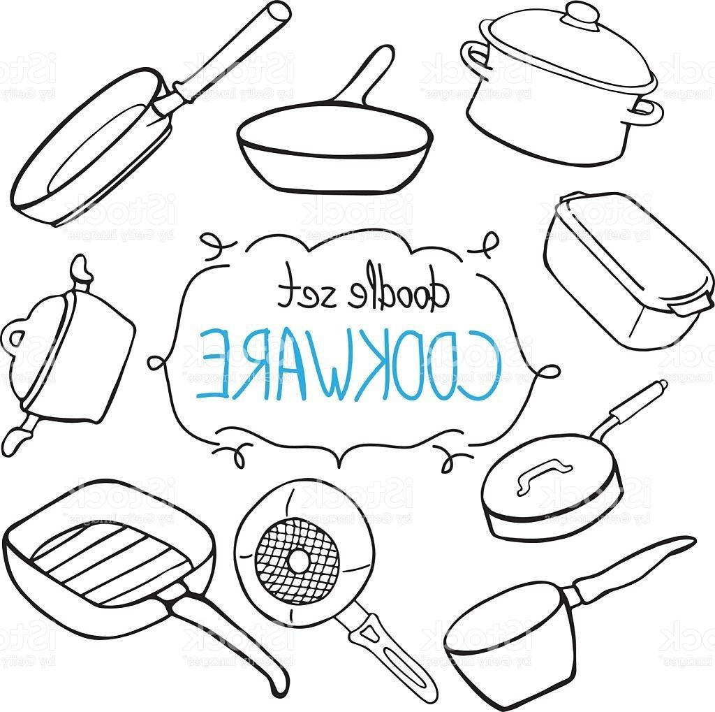 1024x1019 Unique Cookware Pots And Pans In Doodle Style Vector Cdr