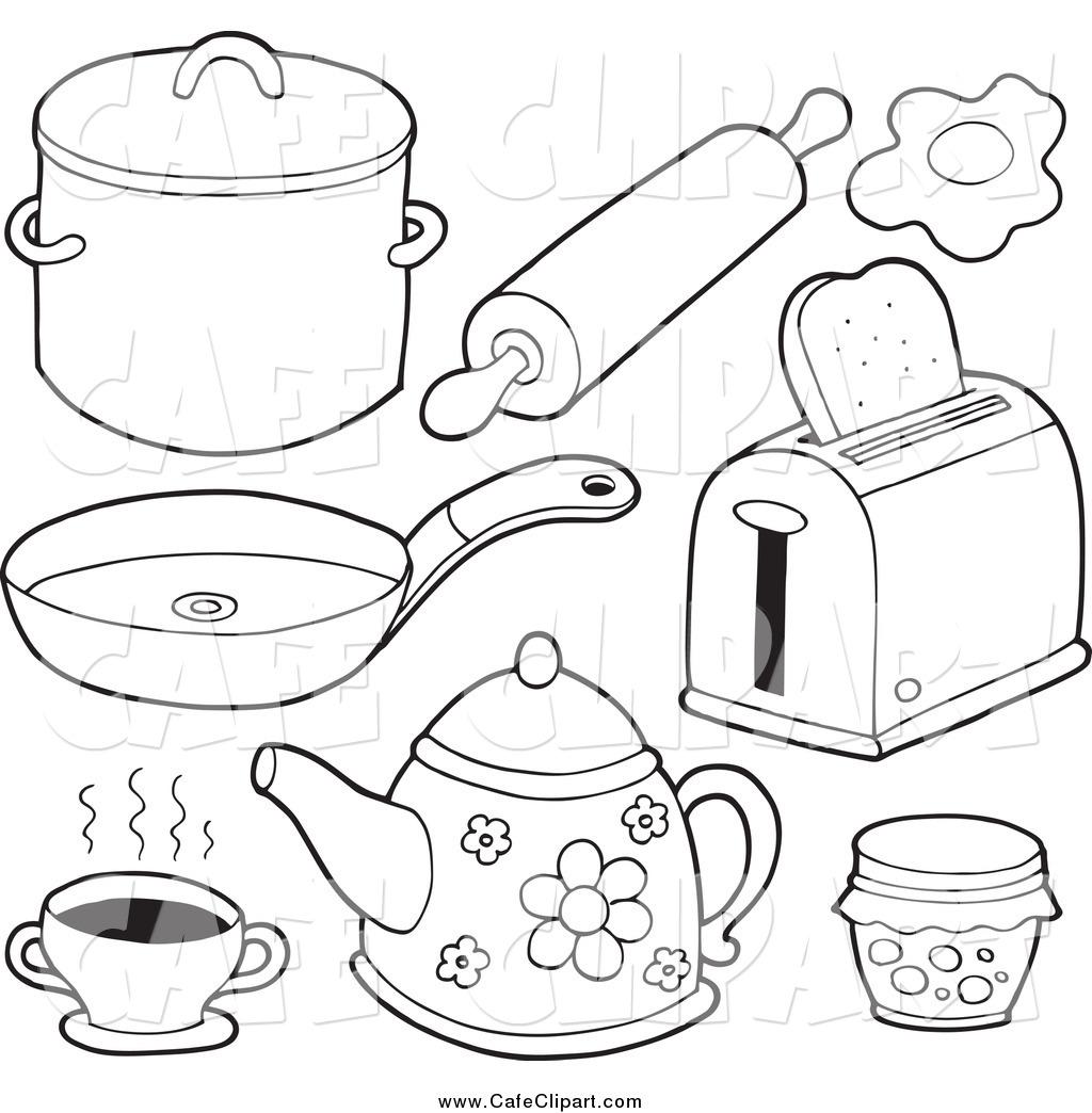 Frying pan coloring page - Coloringcrew.com   1044x1024