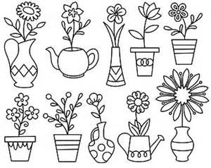 Potted Flower Drawing