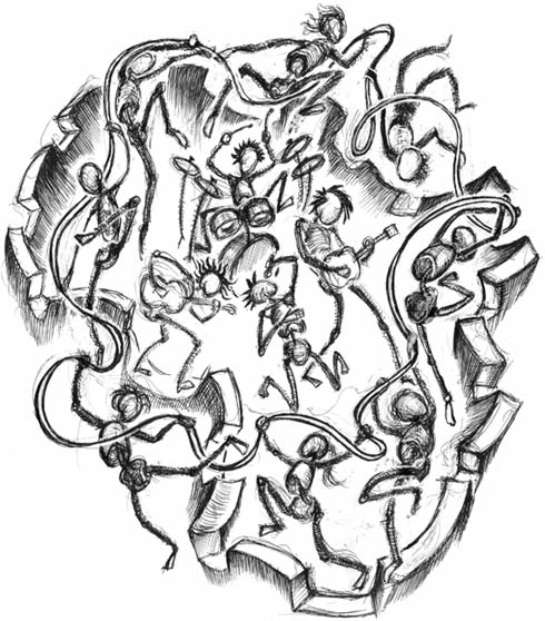 490x558 Make Poverty History Picture Drawing Of Dancers And Musicians