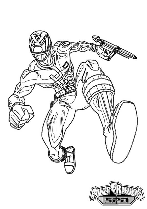 600x849 How To Draw Power Rangers Spd Coloring Page Color Luna