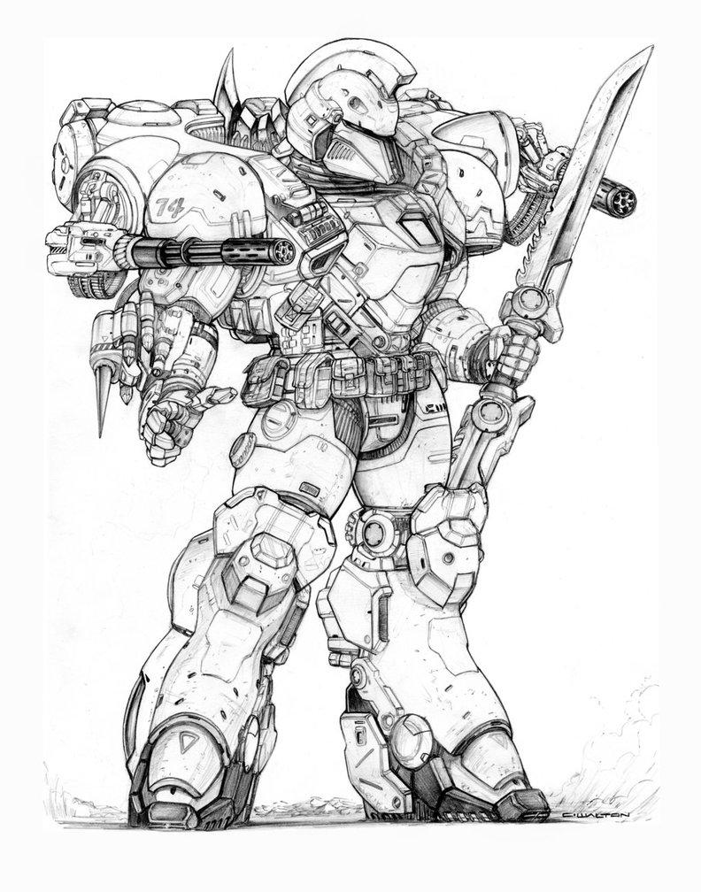 792x1008 Rifts Ng Demon Slayer Power Armor By Chuckwalton