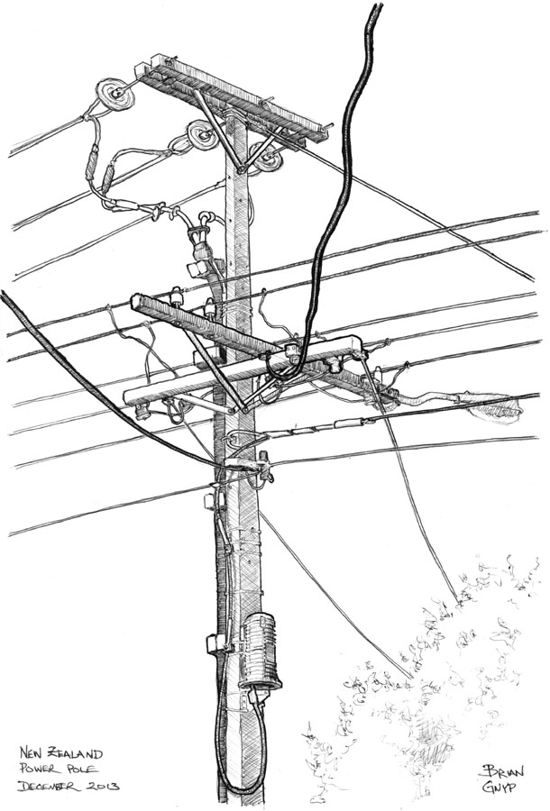 610x900 Sketchy Drawings Power Pole