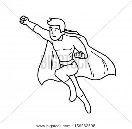 450x440 Super Hero Power Man Cartoon Vector Amp Photo Bigstock