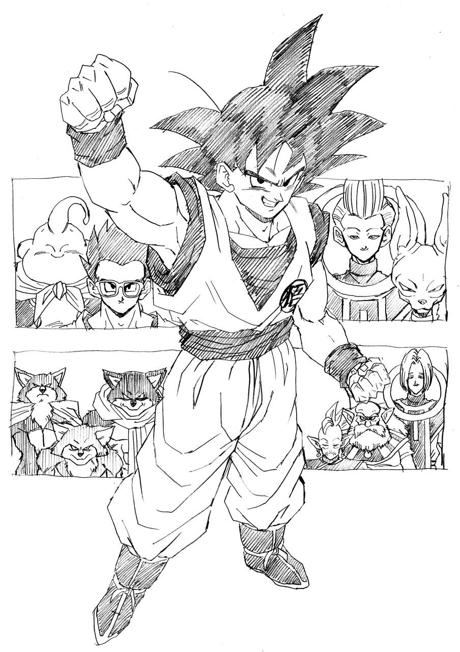 904x1280 Tournament Of Power Arc Dragonball Ext. 1 Goku
