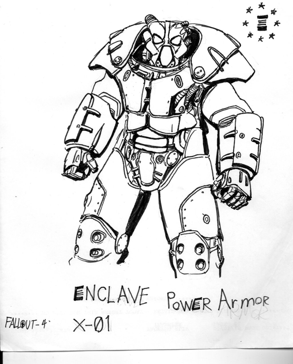 1024x1273 Fallout 4 Enclave Power Armor Or X01 By Therenegadesgt