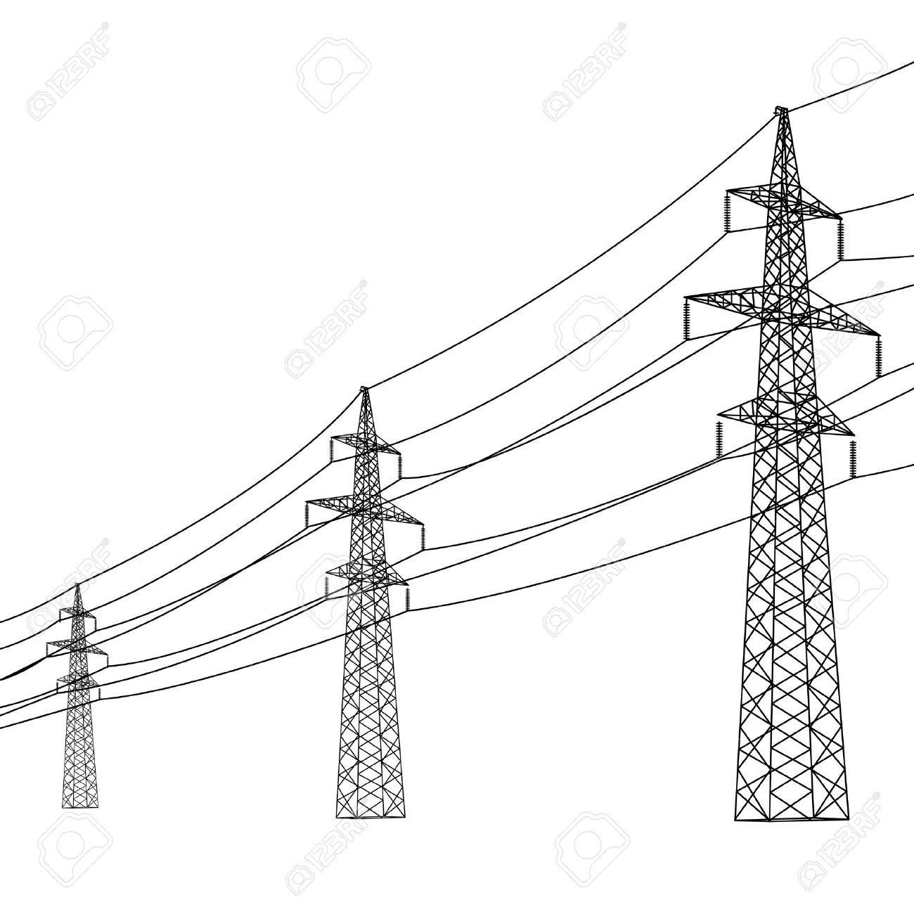 power line drawing at getdrawings com