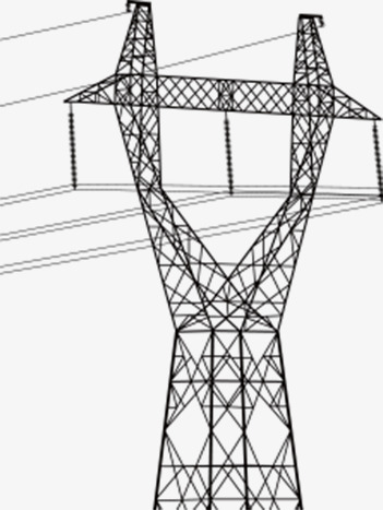 351x467 Telephone Pole, Black And White Lines, Powered By, Power Png Image