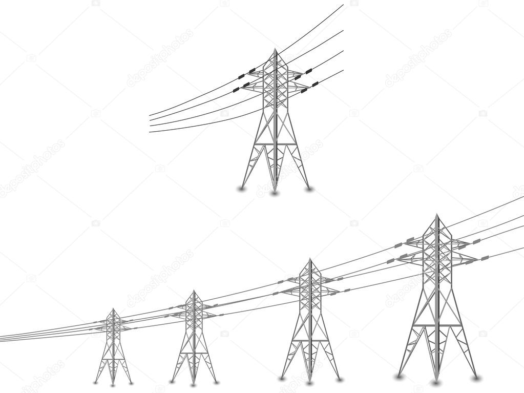 Power Lines Drawing At Getdrawings Com