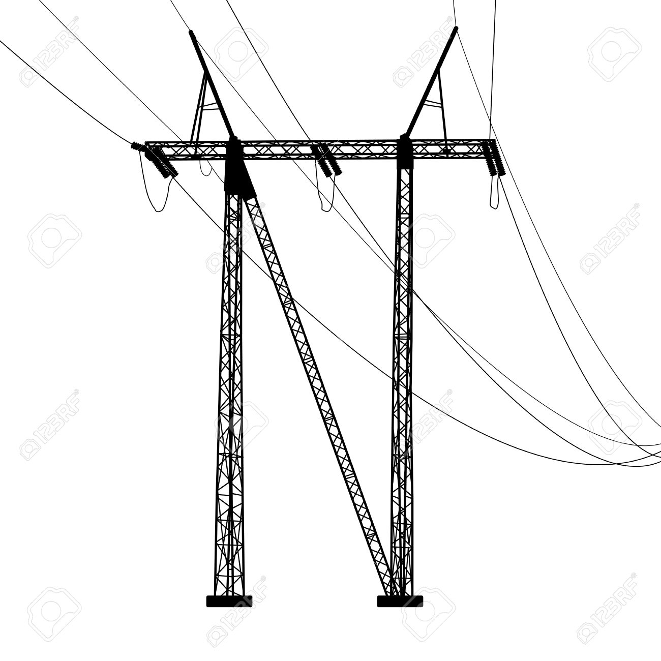 Power Lines Drawing at GetDrawings.com | Free for personal use Power ...