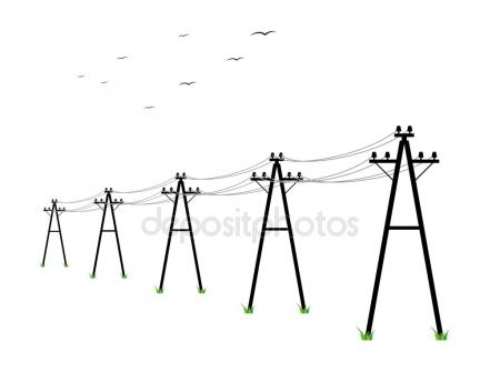 450x344 Electric Power Lines Stock Vectors, Royalty Free Electric Power