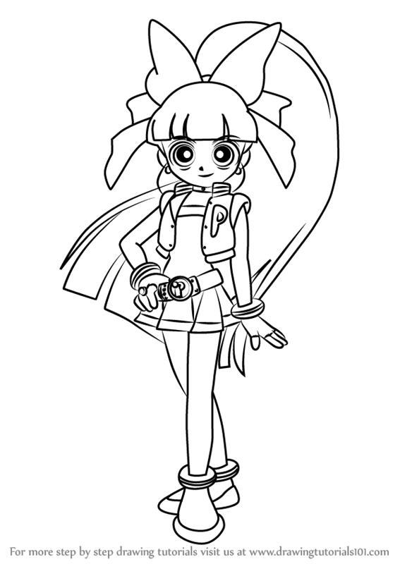 567x800 Learn How To Draw Momoko Akatsutsumi From Powerpuff Girls Z