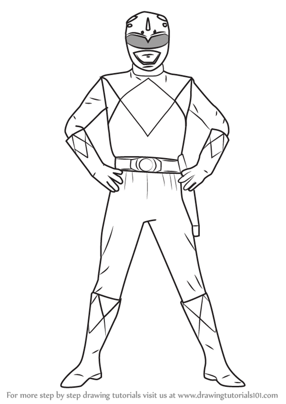 567x800 Learn How To Draw Blue Ranger From Power Rangers (Power Rangers