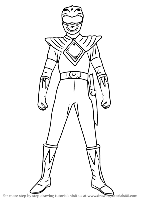 567x800 Learn How To Draw Green Ranger From Power Rangers (Power Rangers