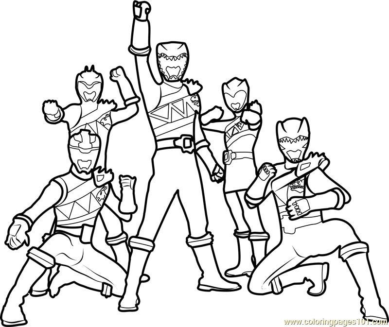800x673 Power Rangers Dino Charge Coloring Page