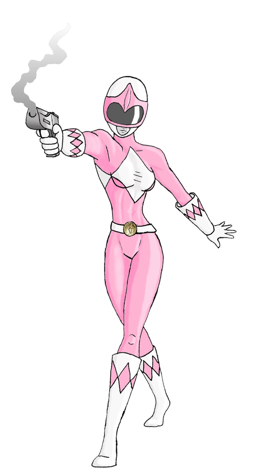 900x1532 pink power rangerdesert eagle by jakestarling on deviantart