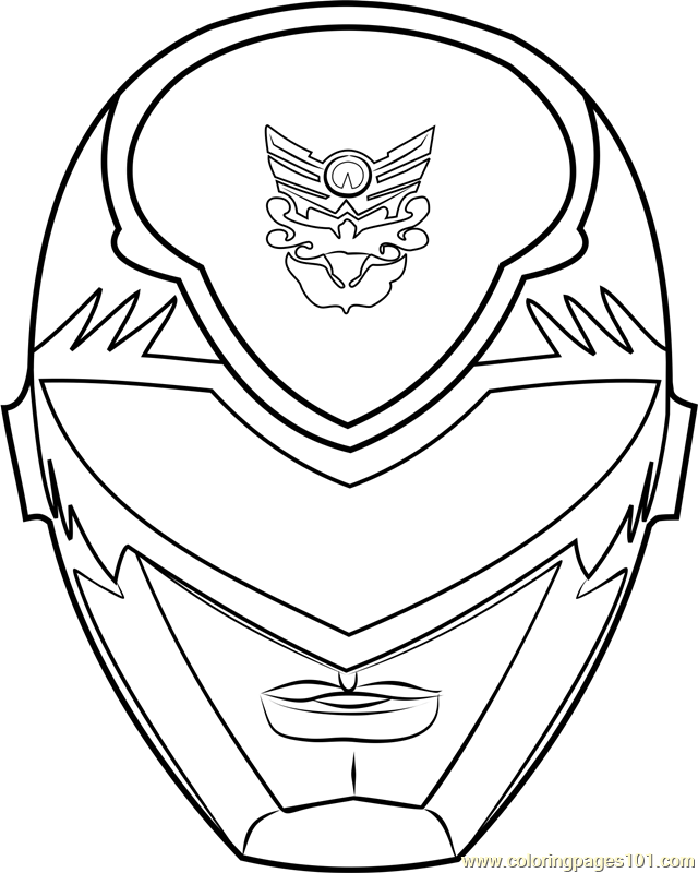 640x800 Power Ranger Mask Coloring Page