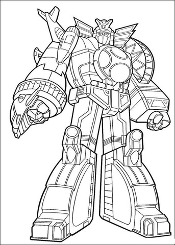 343x480 Power Ranger Megazord Coloring Page Free Printable Coloring Pages