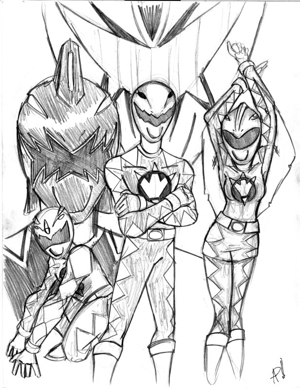 616x797 Power Rangers Dino Thunder By Psifreek27
