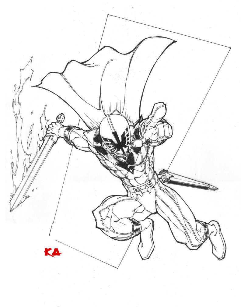 792x1008 Red Power Ranger By Komickarl