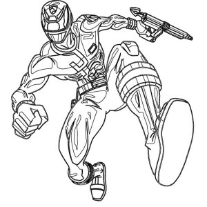 300x300 Red Ranger Hold Katana In Power Rangers Samurai Coloring Page Red