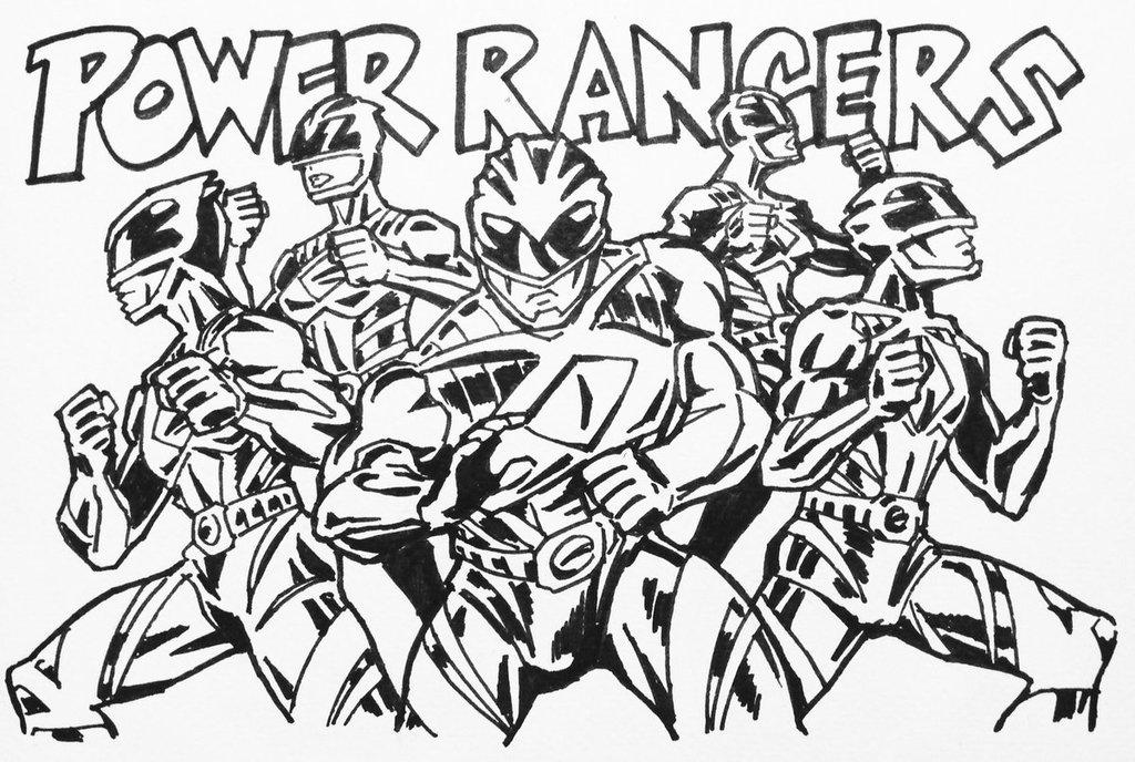 1024x688 Power Rangers By Kaeae