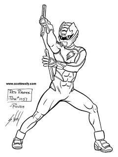 jungle fury power rangers coloring pages 240x320 scott neely39s scribbles and sketches may 2008