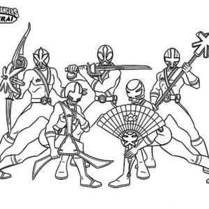 Power Rangers Samurai Drawing