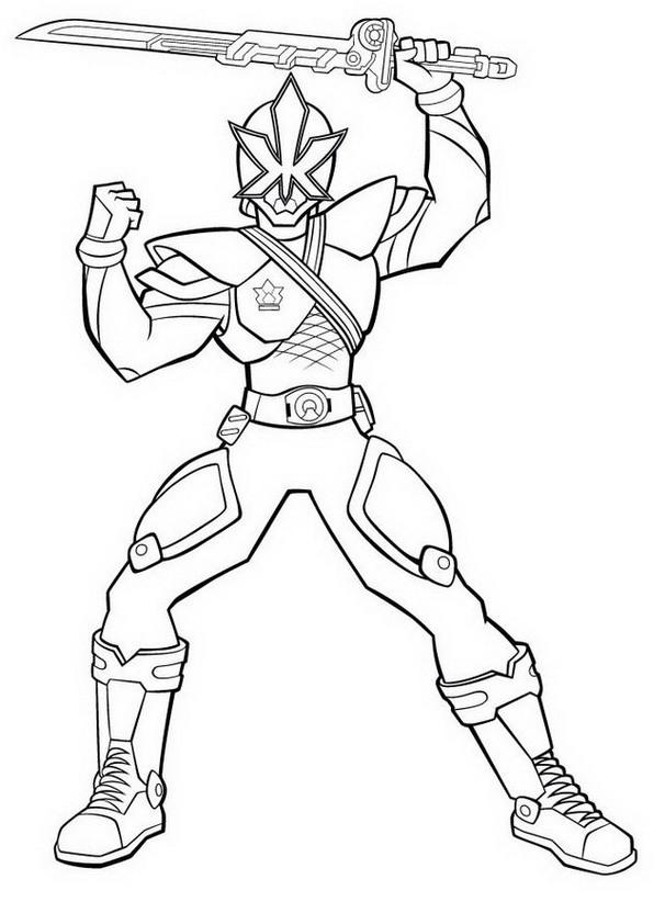 606x832 Power Rangers Samurai Antonio Coloring Pages Allmadecine