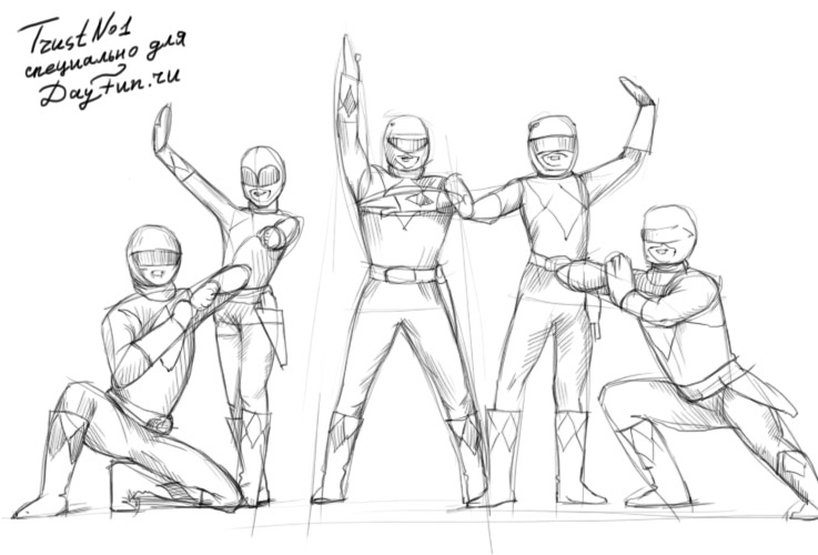 737x500 How To Draw Power Rangers Samurai Step By Step