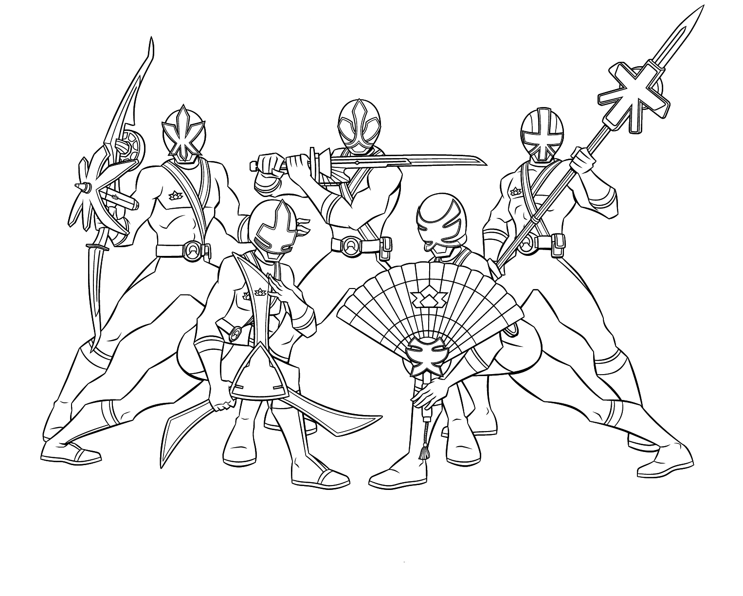 1527x1225 Team Power Ranger Samurai Coloring Pages For Henry