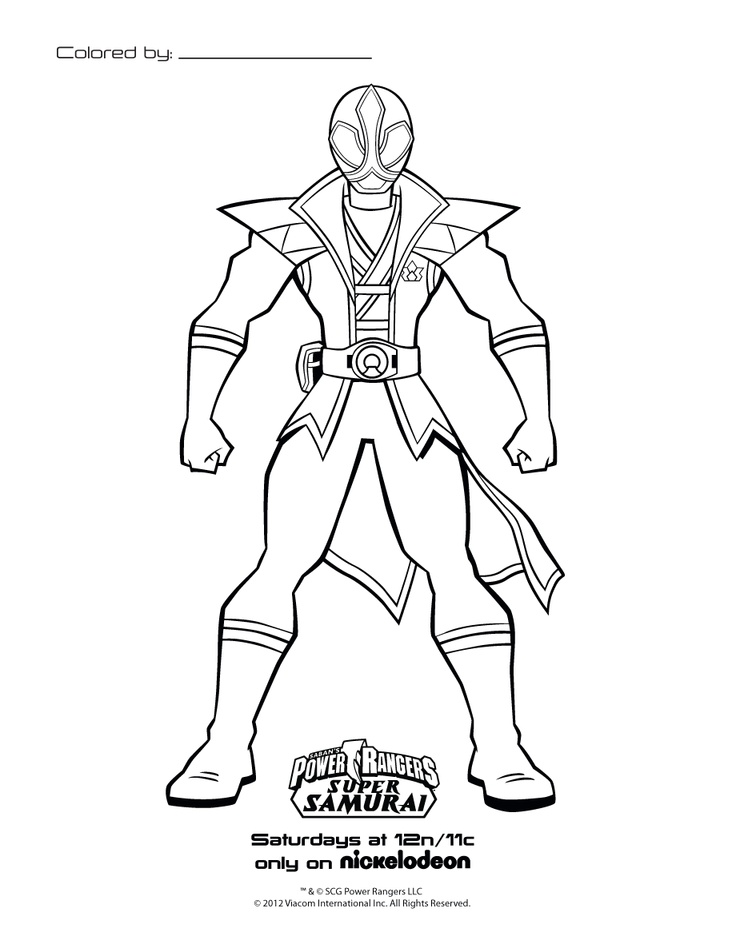 samurai coloring pages drawing printable 736x952 power rangers birthday power rangers birthday party ideas