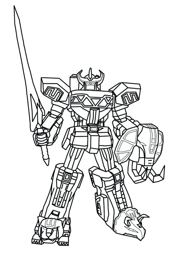 595x842 Megazord Coloring Pages Big Power Ranger Coloring Pages Power