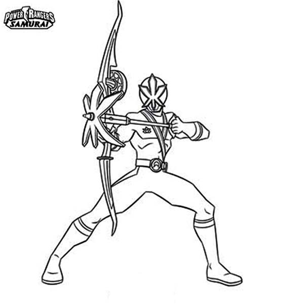 red ranger samurai coloring pages - photo#12