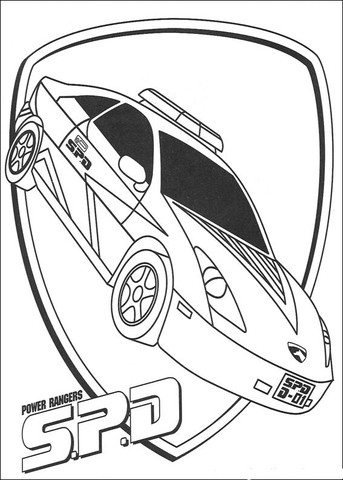 343x480 Power Ranger Spd Coloring Page Free Printable Coloring Pages