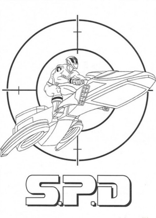 500x701 Power Rangers Spd Drives His Favorite Vehicles Coloring Page