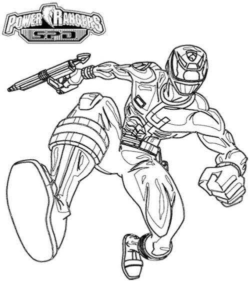 500x565 Power Rangers Spd Pursuing Enemy Coloring Page Kids Coloring