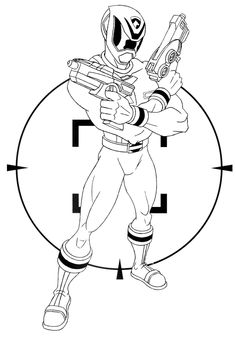 236x337 Power Rangers Spd Shooting Ready Coloring Page Adult