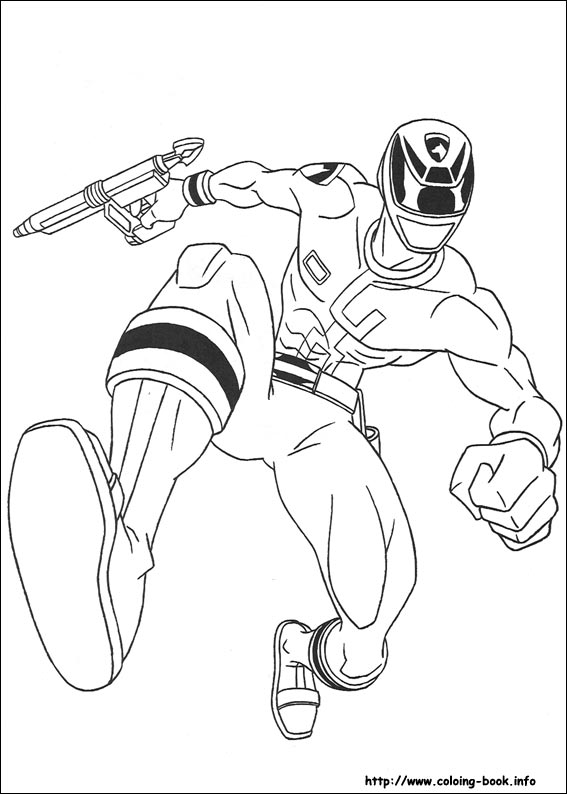 567x794 Rangers Coloring Picture