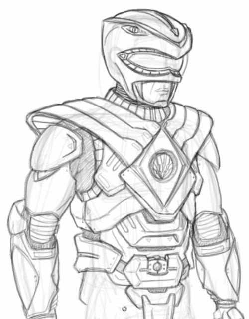 500x641 Amazing Red Ranger In Power Rangers Super Samurai Coloring Page
