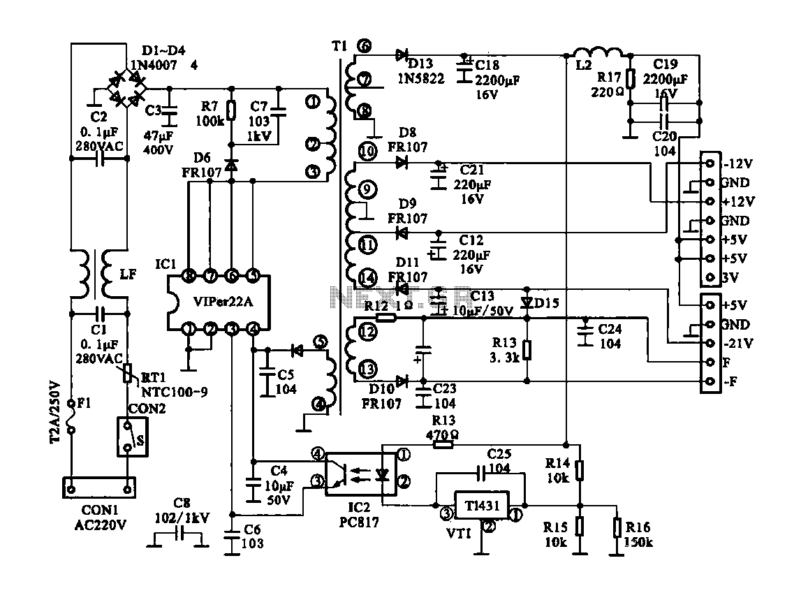 Power Supply Drawing At Free For Personal Use Page 11 Circuits Nextgr 1147x849 Switching