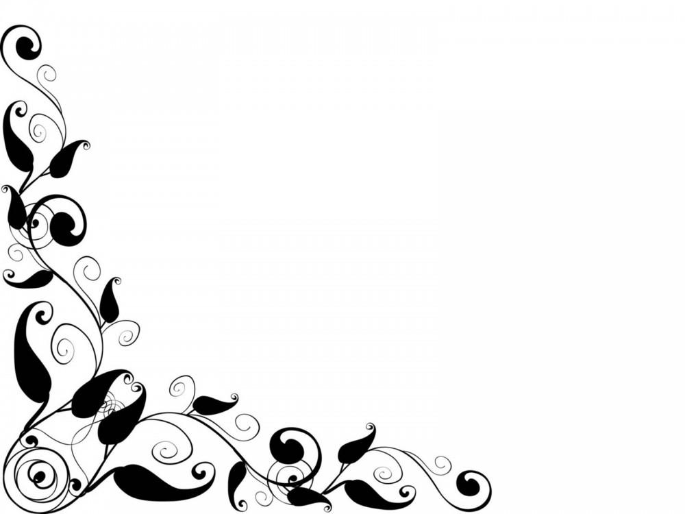 1000x750 Elegant Black Frame Ppt Backgrounds