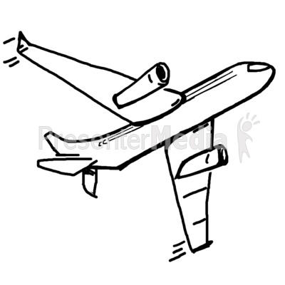 400x400 Single Airplane Sketch