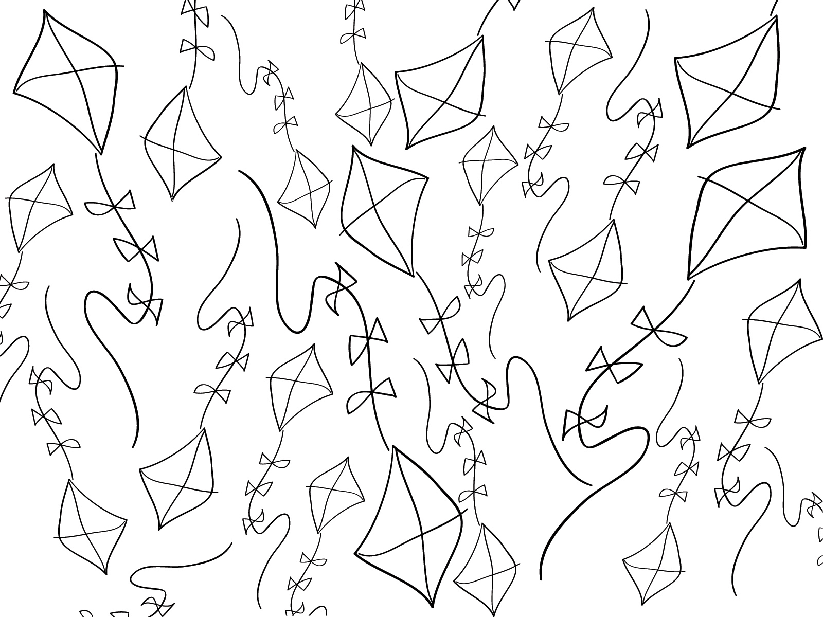 1600x1200 Abstract Cartoon Paper Kite Powerpoint Templates