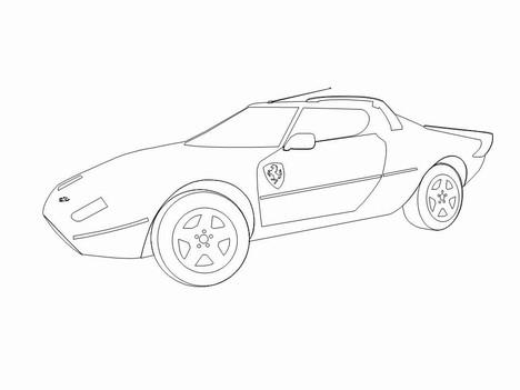 468x351 Cars Clip Art Template