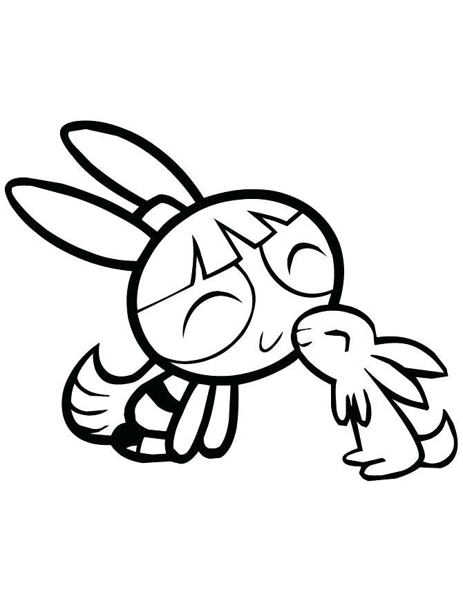 670x867 Power Puff Girls Coloring Page Girls Kissing Rabbits Powerpuff
