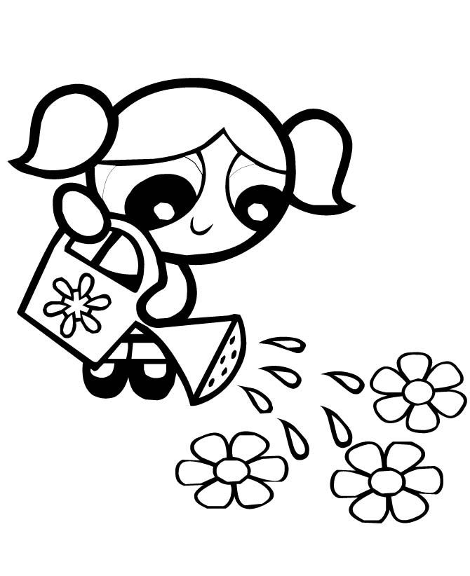 670x822 Powerpuff Girls Coloring Pages