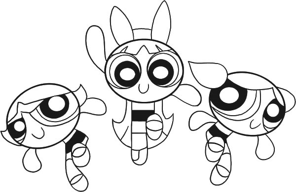 600x390 Powerpuff Girls Printable Coloring Pages